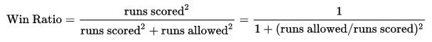 pythagorean expectation formula