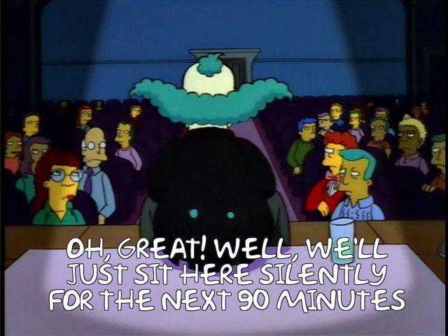 krusty worst comedian simpsons